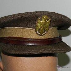 Militaria: GORRA DE PLATO DE POLICIA ARMADA, BUEN ESTADO, FABRICADA POR ZAPATER, MIDE 55 CMS DE PERIMETRO INTER. Lote 53882310