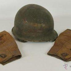 Militaria: CASCO ORIGINAL AMERICANO. TIPO M-1. SERIE CAPAC Y POLAINAS EN CUERO. 2ª GUERRA MUNDIAL.. Lote 52203955