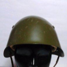 Militaria: CASCO MILITAR. EJERCITO BÚLGARO. PINTURA CON ALGUNAS ROZADURAS. CORREAJES E INTERIOR COMO NUEVOS.. Lote 55156695