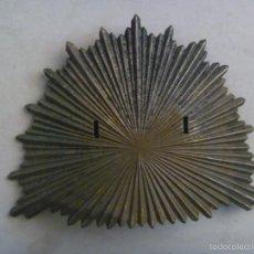 Militaria: GRAN PLACA BORBÓNICA DE GORRO DE GRANADERO DE FERNANDO VII O SHAPSKA DE ISABEL II. Lote 58436784