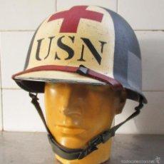 Militaria: CASCO M1 SANITARIO US NAVY - NORMANDIA. Lote 268043069