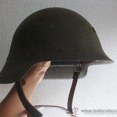 Militaria: CASCO TRUBIA DE LA GUERRA CIVIL REUTILIZADO EN POSTGUERRA . INTERIOR COMPLETO. Lote 61188083
