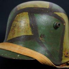 Militaria: CASCO AUSTRIACO DE CAMUFLAJE M16/17 DE WW1. Lote 61196851