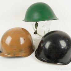 Militaria: LOTE DE 3 CASCOS MILITARES POLONIA-CHEQUIA-RUSIA. Lote 64199555