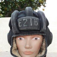 Militaria: CASCO DE TANQUISTA SOVIETICO-1982. Lote 66464575