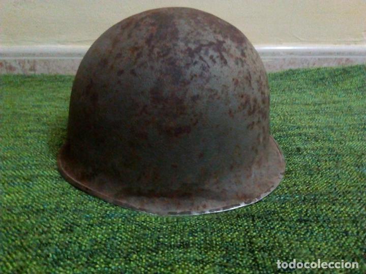 Militaria: CASCO FRANCES M51 TIPO M1 AMERICANO - Foto 2 - 67340445
