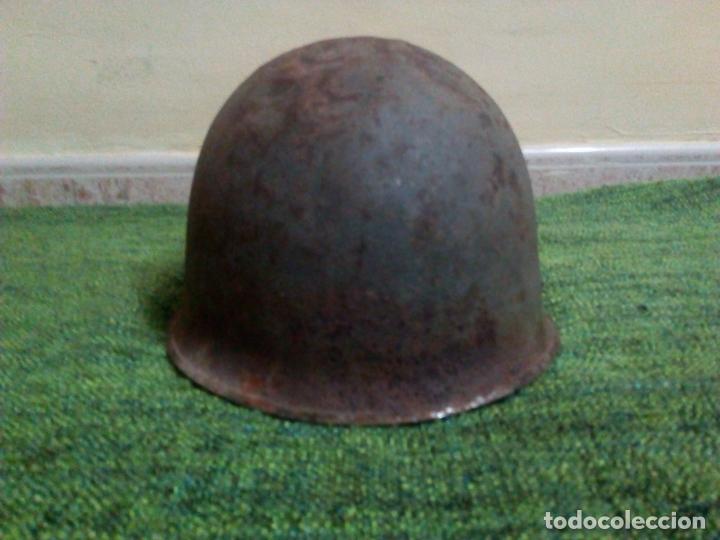 Militaria: CASCO FRANCES M51 TIPO M1 AMERICANO - Foto 3 - 67340445