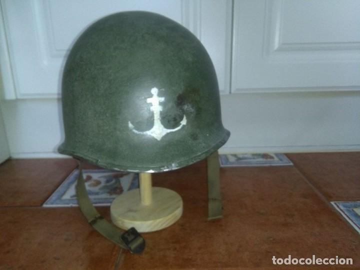 Militaria: Casco americano M1 original 914D voluntarios franceses wwii - Foto 2 - 69503937