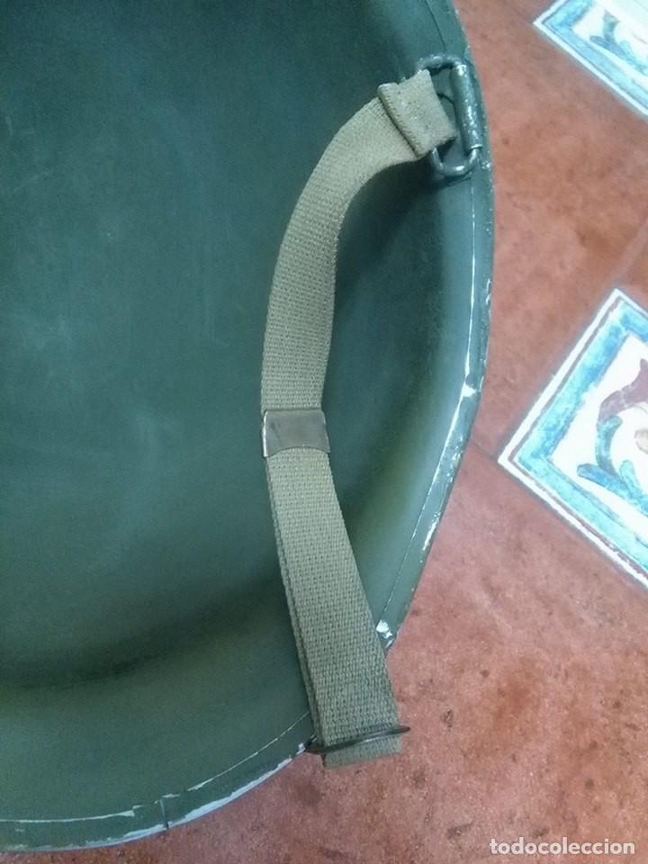 Militaria: Casco americano M1 original 914D voluntarios franceses wwii - Foto 4 - 69503937