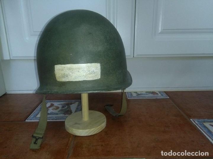 Militaria: Casco americano M1 original 914D voluntarios franceses wwii - Foto 5 - 69503937