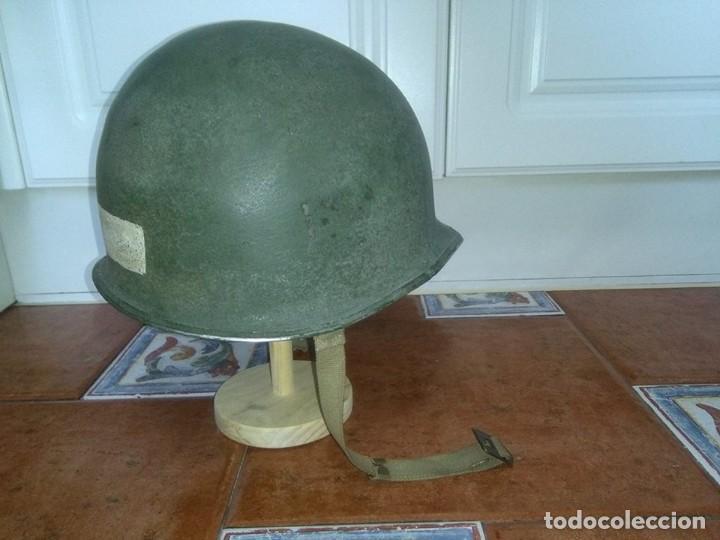 Militaria: Casco americano M1 original 914D voluntarios franceses wwii - Foto 8 - 69503937