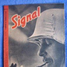 Militaria: SIGNAL Nº 3 DE 1942. CASTELLANO. LVF, ÁFRICA, PANZER EN COLOR. Lote 70028593