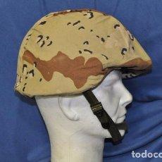 Militaria: USA. CASCO DE KEVLAR PASGT CON FUNDA DE CAMUFLAJE DESIERTO. COMPLETO.. Lote 77980117