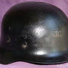 Militaria: CASCO ESPAÑOL ORIGINAL M42 EPOCA DE FRANCO - TIPO ALEMAN STAHLHELM M42 - PEQUEÑA ABOLLADURA.. Lote 168878705