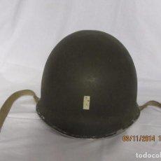 Militaria: CASCO M1 AMERICANO 1941 42 ANILLAS FIJAS ORIGINAL TENIENTE. Lote 79919197