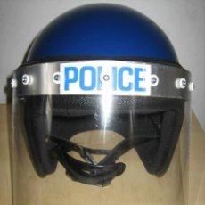Militaria: CASCO ANTIDISTURBIOS POLICIA INGLES.TALLA 52. Lote 87122224
