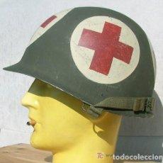 Militaria: CASCO M1 - CUERPO SANITARIO. Lote 197391073