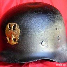 Militaria: STAHLHELM ZETA 1942. FRANQUISMO. OLLA ORIGINAL. ENCERADO PARA EVITAR OXIDACION. INSIGNIA METALICA.. Lote 89664032
