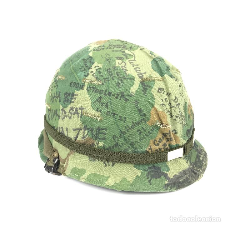 CASCO DE LAS FUERZAS ESPECIALES DE USA. ÉPOCA GUERRA DE VIETNAM. 100% ORIGINAL. (Militar - Cascos Militares )