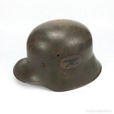 Militaria: CASCO DE ACERO ALEMÁN PARA AMETRALLADOR MODELO 1916. . Lote 91375240