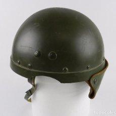 Militaria: CASCO DE CARRISTA MODELO 1958 EN PLÁSTICO. J. GALLAND, SEGURAMENTE FRANCES. MUY BUEN ESTADO DE CONSE. Lote 91796975