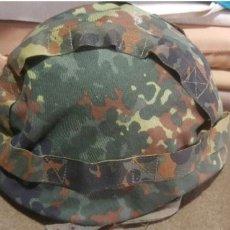 Militaria: FUNDA PARA CASCO CAMUFLAJE ALEMÁN AJUSTABLE FLECKTARN USADA BUNDESWEHR HERR. Lote 96705504