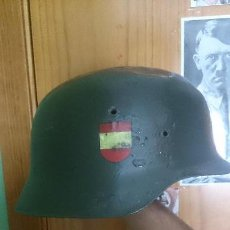 Militaria: ESPECTACULAR CASCO DE LA DIVISION AZUL!! DESDE CASCO ORIGINAL Z!!! ALEMAN SS . Lote 98207315