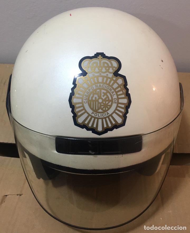 Militaria: CASCO DE MOTORISTA DE POLICIA NACIONAL. POLICÍA DE PROXIMIDAD - Foto 2 - 98649624