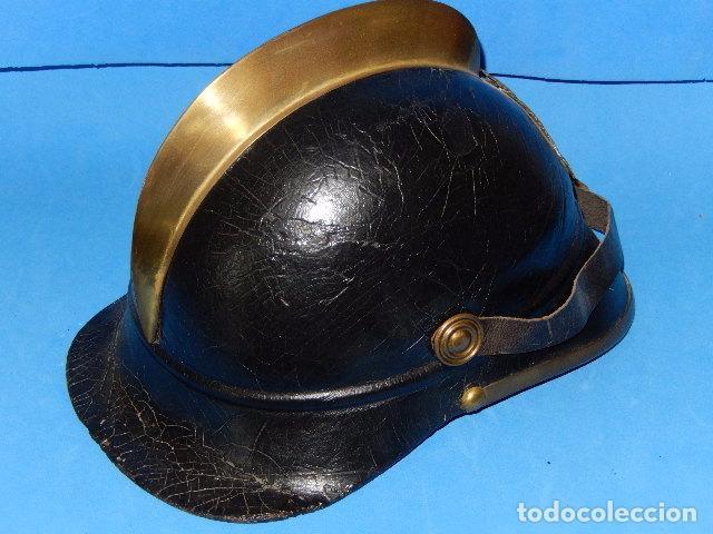 Militaria: España. Antiguo casco bombero. Logroño. Fabricación alemana por J. G. Lieb. Biberach. Riss - Foto 4 - 98943971