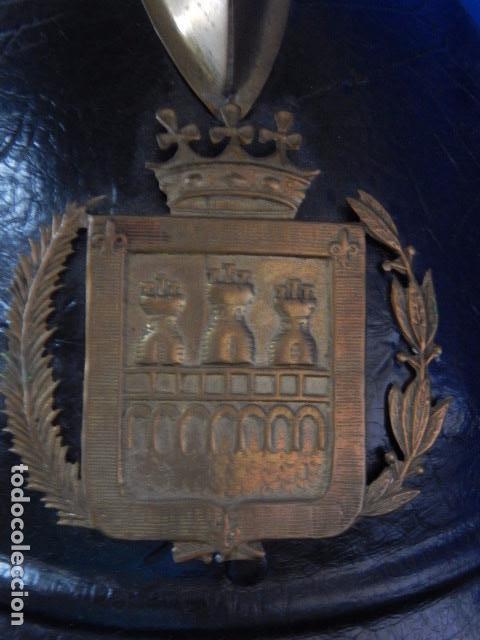 Militaria: España. Antiguo casco bombero. Logroño. Fabricación alemana por J. G. Lieb. Biberach. Riss - Foto 10 - 98943971