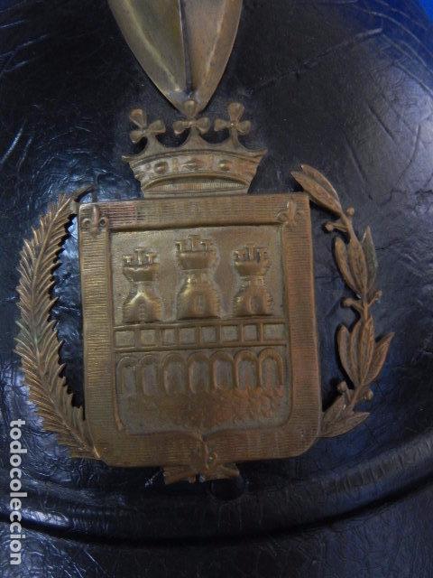 Militaria: España. Antiguo casco bombero. Logroño. Fabricación alemana por J. G. Lieb. Biberach. Riss - Foto 13 - 98943971