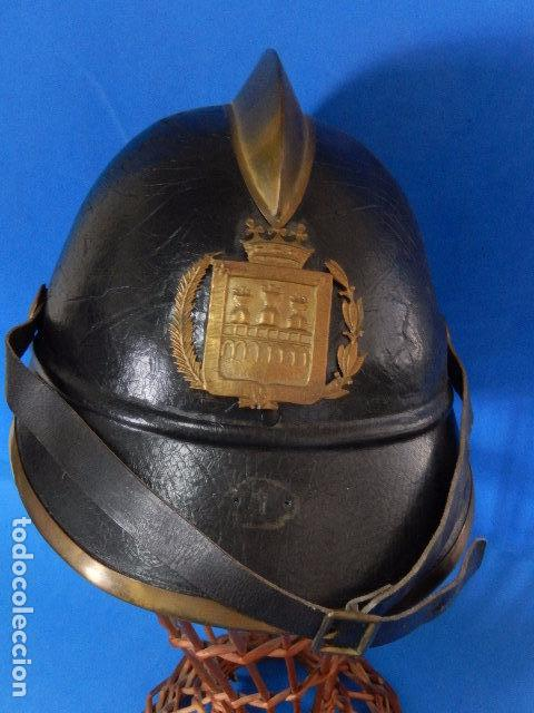 Militaria: España. Antiguo casco bombero. Logroño. Fabricación alemana por J. G. Lieb. Biberach. Riss - Foto 17 - 98943971