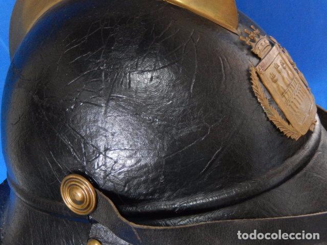 Militaria: España. Antiguo casco bombero. Logroño. Fabricación alemana por J. G. Lieb. Biberach. Riss - Foto 20 - 98943971