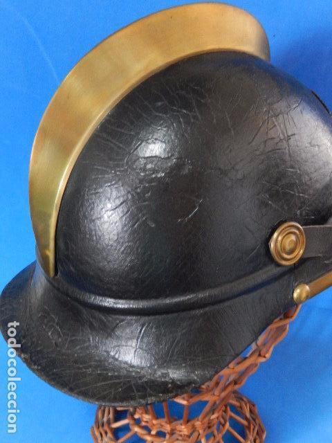 Militaria: España. Antiguo casco bombero. Logroño. Fabricación alemana por J. G. Lieb. Biberach. Riss - Foto 22 - 98943971