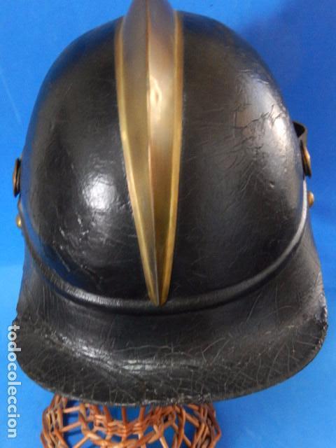 Militaria: España. Antiguo casco bombero. Logroño. Fabricación alemana por J. G. Lieb. Biberach. Riss - Foto 23 - 98943971