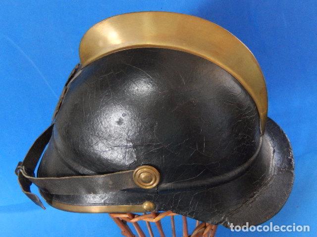Militaria: España. Antiguo casco bombero. Logroño. Fabricación alemana por J. G. Lieb. Biberach. Riss - Foto 29 - 98943971