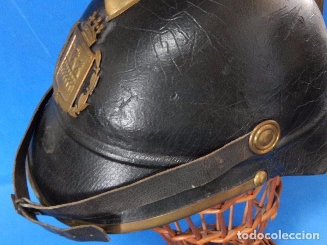 Militaria: España. Antiguo casco bombero. Logroño. Fabricación alemana por J. G. Lieb. Biberach. Riss - Foto 31 - 98943971
