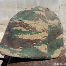 Militaria: CASCO TIPO OTAN CON FUNDA DE CAMUFLAJE. Lote 14043594