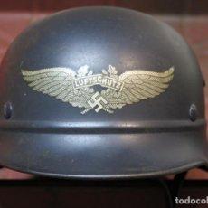 Militaria: SGM WWII CASCO ALEMAN LUFTSCHUTZ M40 Q64 COMPLETO Y ORIGINAL GARANTIZADO.. Lote 100373019