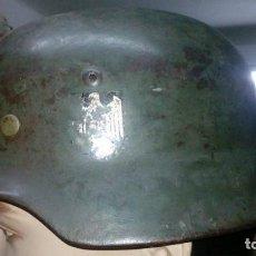 Militaria: CASCO ALEMAN MODELO M35 ORIGINAL COMPLETO SIN TOCAR Y DOBLE CALCA ORIGINAL. Lote 106413583