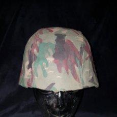 Militaria: CASCO CAMUFLAJE EJERCITO ESPAÑOL. Lote 107809476