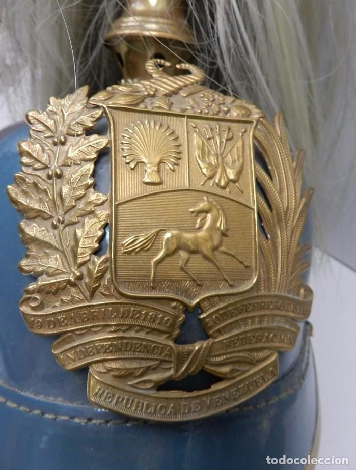 Militaria: IMPRESIONANTE CASCO DE GALA, DE LA ACADEMIA MILITAR DE VENEZUELA, (AMEJ). NUEVO A ESTRENAR. - Foto 3 - 111949343
