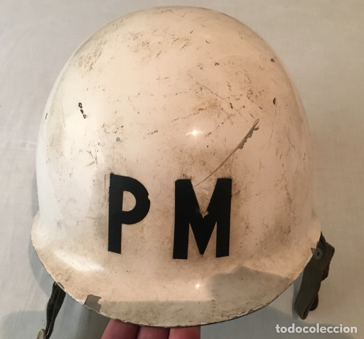 Militaria: CASCO MILITAR POLICÍA MILITAR - Foto 2 - 114930043
