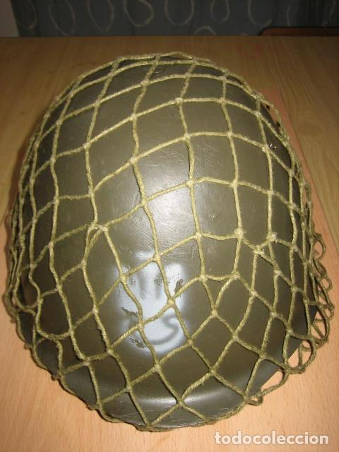 Militaria: Casco militar de acero,con red . - Foto 3 - 146391945