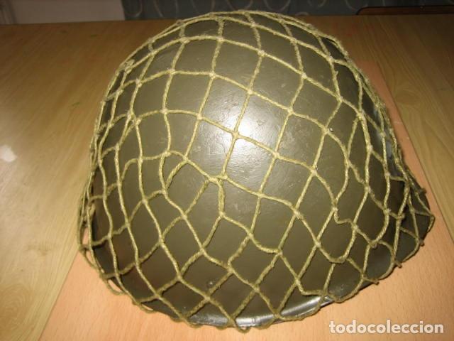Militaria: Casco militar de acero,con red . - Foto 4 - 146391945