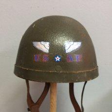 Militaria: CASCO CARRISTA FRANCES MODELO 51 - USAF PILOTO ORIGINAL. Lote 119413080