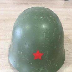 Militaria: ANTIGUO CASCO MILITAR POSIBLEMENTE CHECO, CON INTERIOR EN PERFECTO ESTADO Y BARBUQUEJO REF. 2. Lote 119956675