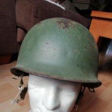 Militaria: CASCO PARACAIDISTA GUERRA IFNI SÁHARA WWII US. Lote 119974759