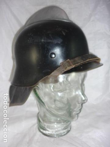 Militaria: Casco Bombero Aleman WW2 - T-54 - Original - Foto 4 - 121279183