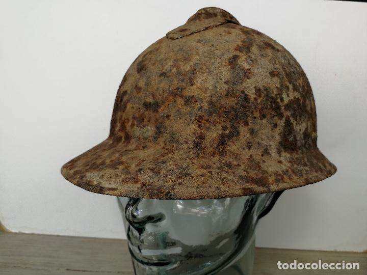 Militaria: UNA JOYA - CASCO ADRIAN FRANCES DE LAS BRIGADAS INTERNACIONALES - GUERRA CIVIL - BATALLA DEL JARAMA - Foto 7 - 121445795